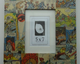 ThunderCats Decoupaged 5x7 Picture Frame