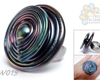 Verwisselbare ringtop SWIRL in softglas - Interchangeable ringtop SWIRL in soft glass