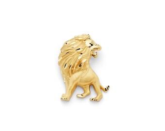 14K Yellow Gold Lion Slide Pendant, Lion Pendant, Lion Jewelry, Animal Jewelry, Gold Lion, Gold Pendant, Gold Jewelry, Lion, Lioness