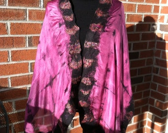 Shibori dyed shawl/scarf