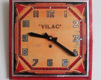 1920/1930s Vilac Art Deco Vintage Clock