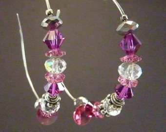 Silver earrings 925 and Swarovski crystals.