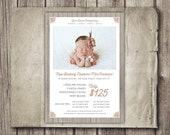 Newborn Photography Template - Photo Sessions Marketing Template - Newborn Baby Photography - Newborn Baby Template PSD INSTANT DOWNLOAD