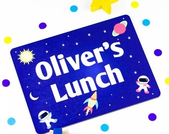 Childrens Placemat - Space Rockets - Personalized Placemats For Kids - PM002