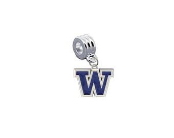 Washington Huskies European Charm for Bracelet