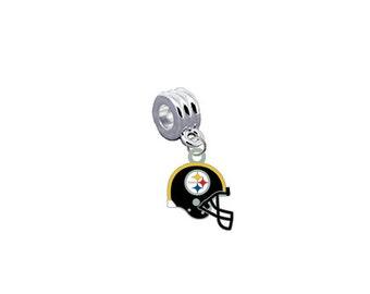 Pittsburgh Steelers HELMET NFL European Charm for Bracelet, Necklace & DIY Jewelry