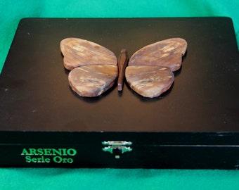 Wooden Butterfly Keepsake Box, Repurposed Cigar Box (Box # 87)