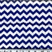 Chevron Cotton Fabric Royal 100% Cotton Chevron Quilt Fabric By the Yard #430-9
