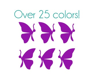 Butterfly (Side) Nail Decals - Vinyl, Custom Choice of Color