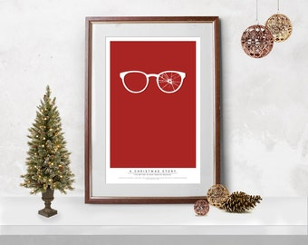 A Christmas Story - Ralphie Broken Glasses Movie Poster Print