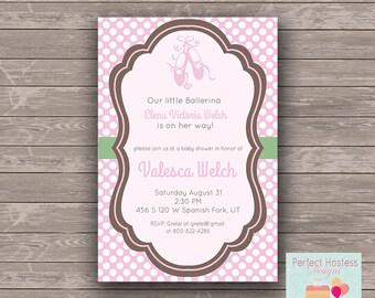 Ballerina Baby shower Invitation
