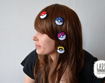 POKEBALL hair clip