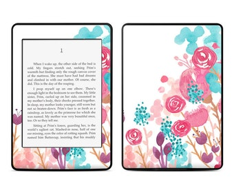 Amazon Kindle Skin - Blush Blossoms by Sara Berrenson - Sticker Decal - Fits Paperwhite, Fire, Voyage, Touch, Oasis