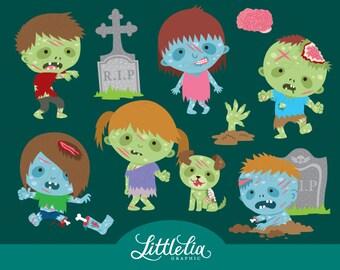 Zombie clipart - halloween clipart - 16061