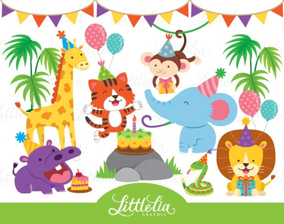 Jungle birthday party animal party 16004 from for Classic jungle house for small animals