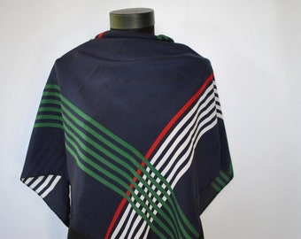 Vintage PRINTED SILK SCARF , hand rolled silk scarf.....(193)