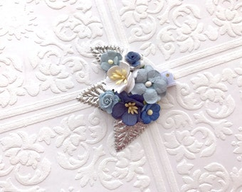 The Silver and Blue Fairy Kissed Headband/Hair Clip