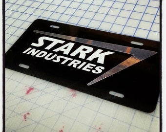 Stark Industries Custom License Plate