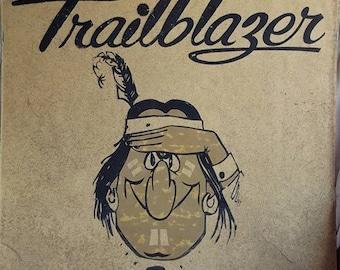 "Vintage Trailblazer Native American Indian Comic CharacterSign 18"" X 17 1/2"""