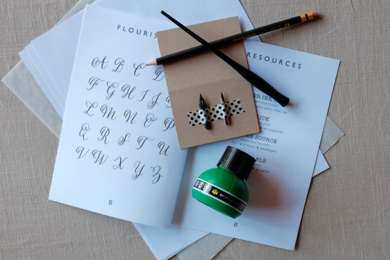Calligraphy Set For Beginners From Katiehoffmanink On Etsy