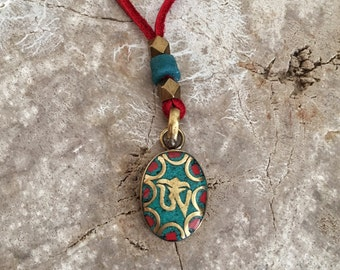Tibetan necklace, Meaningful necklace, Tibetan jewelry, Ohm necklace, Colorful necklace, Ethnic necklace, Ohm jewelry, Meaningful jewelry