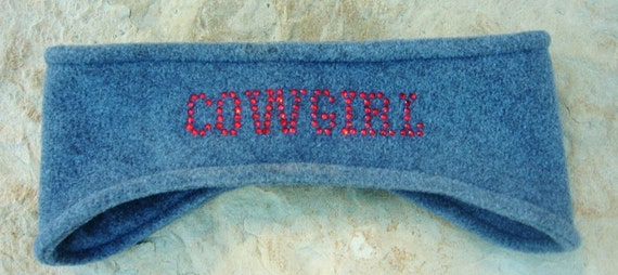 Fleece Cowgirl Headband, Ear Warmer, Winter Wear, Womens Accessories, Skiing