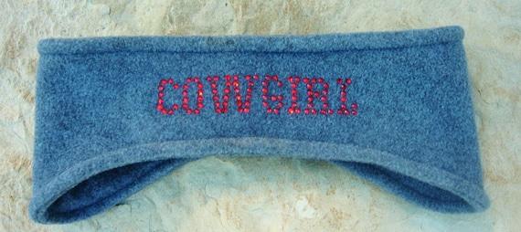 Fleece Cowgirl Headband, Ear Warmer, Winter Wear, Womens Accessories, Skiing