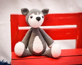 Husky Puppy Crocheted Stuffed Animal/Toy (Made to Order)