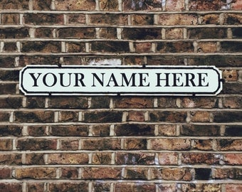 Custom London Street Sign Unframed Poster, Customised Wall Art, Personalised London Road Sign Picture, Bespoke Street Sign