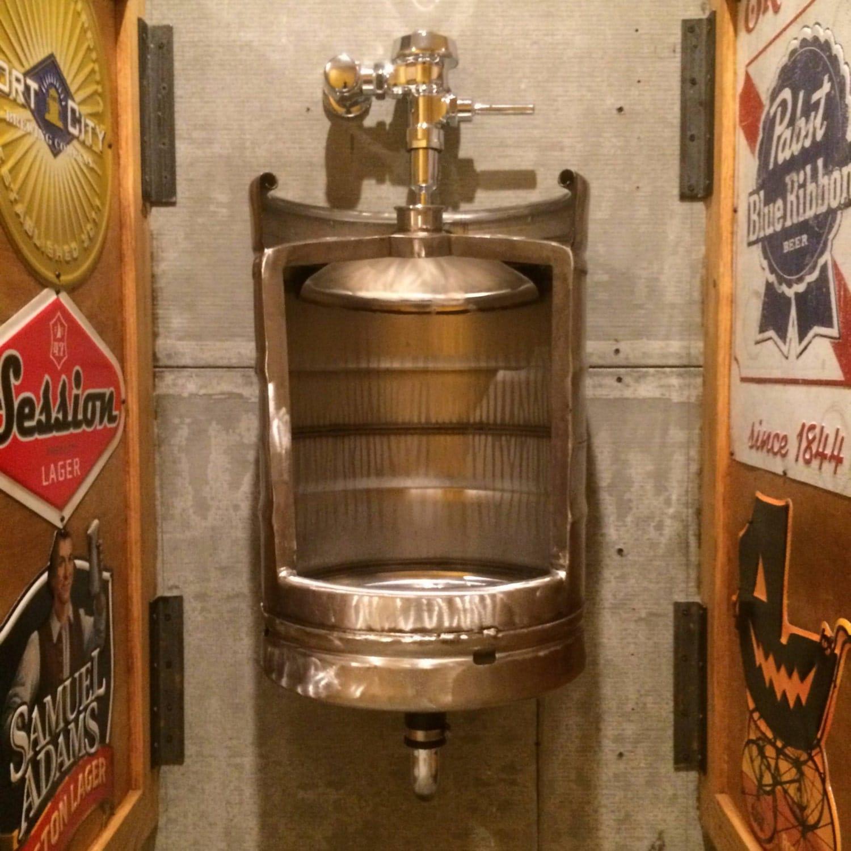 Keg Stainless Beer Keg Urinal Ultimate Man Cave Keg