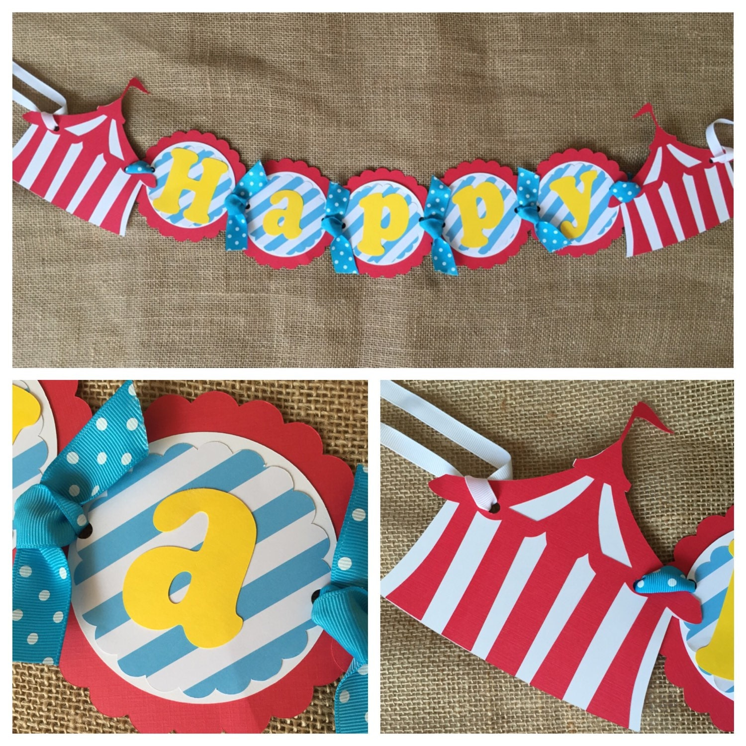 Circus Birthday Banner Circus Party Banner Circus Birthday