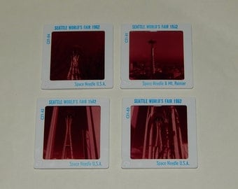 4 Seattle Space Needle Slides World's Fair 1962 Mt. Rainier