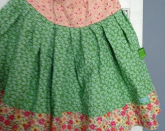 Country Meadows Twirly Skirt - OOAK - XL (12-14)