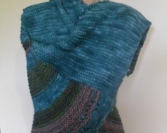 pure wool alpaca OOAK shawl