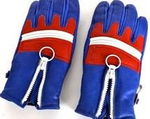 Ski gloves leather Mizuno vintage 80s