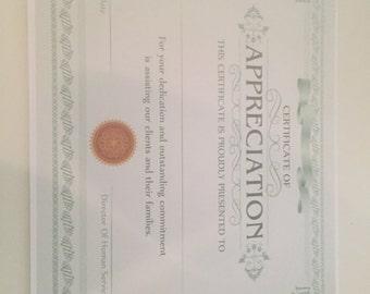 Customizable Certificates