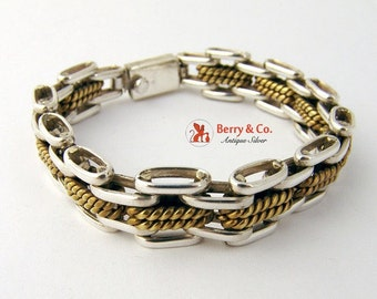 SaLe! sALe! Track Chain Bracelet Sterling Silver Brass