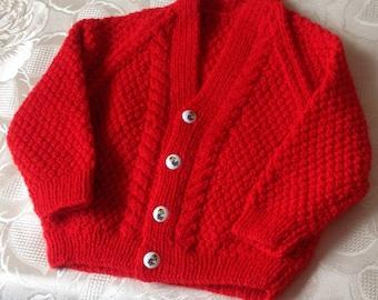 Little Red V Neck cardigan