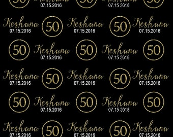 50th Birthday Party backdrop, Black Tie event, Dessert Table backdrop, Faux Gold letter, Backdrop for boy and girl, Golden Birthday
