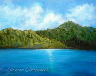 South Pacific Scenic Water Landscape