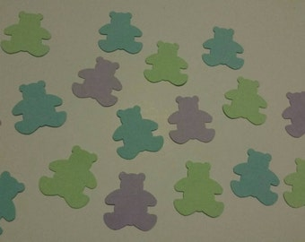Set Of 500 Cute Teddy Bears Cut From Linen Card Stock - Boys - Occasion Confetti - Table Scatter -  Christenings - Endless Possibilities