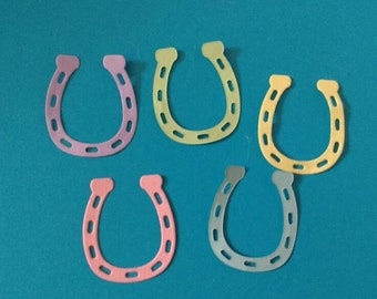 Set of 60 horseshoe Wedding Table Confetti in Pastels - Occasion Confetti - Table Decorations - Card Toppers - Endless Possibilities