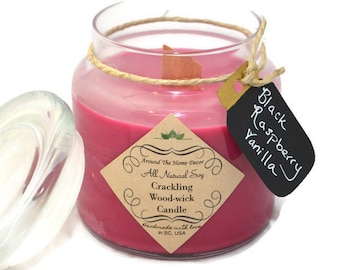 16 oz. All Natural Vegan Soy Woodwick or Cotton wick Candle. Pick a Scent. 80+ Fragrances. Cruelty-Free.