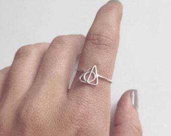 SALE Deathly Hallows Sterling Silver Ring