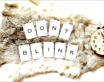 DONT Blink Vintage Dr Who Word Cards, Wall Art, Banner or Cardmaking Supply