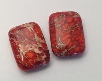 2 aqua terra jasper stone beads 18mm x 25mm #PP134
