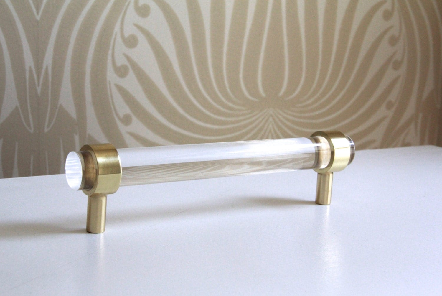 Satin Brass Cabinet Pulls 3 4 Dia Polished Or Satin Brass Drawer Pulls Lucite