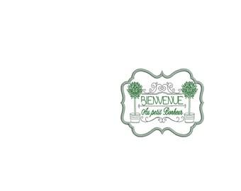 Instant download Machine  Embroidery  design olive frame