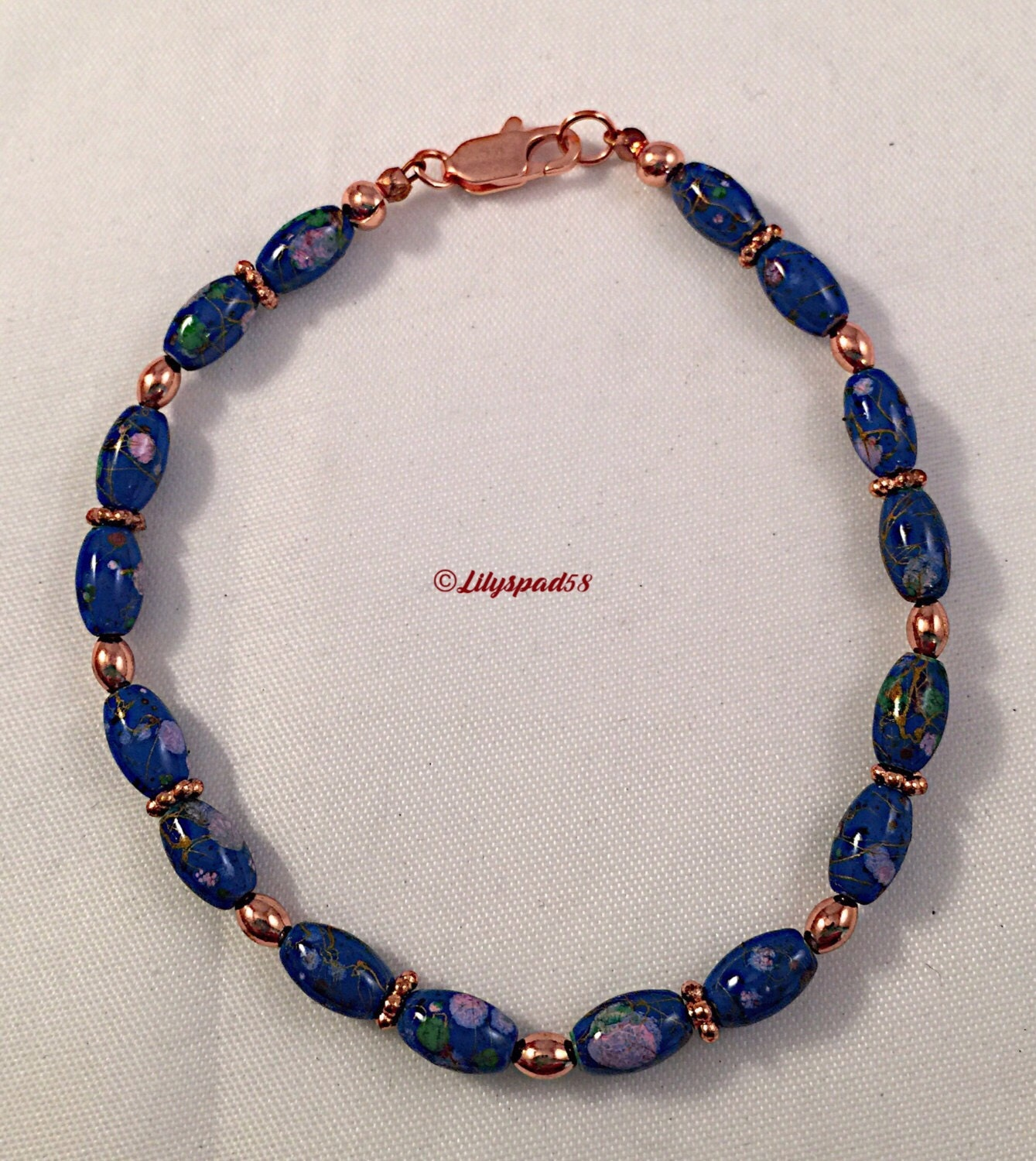 blue floral beaded bracelet gift for magnetic picasso