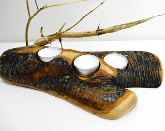 Branch Candle Holder, Tree Candle Holder, Wood Candle Holder, Wooden Candle Holder, Rustic Candle Holder